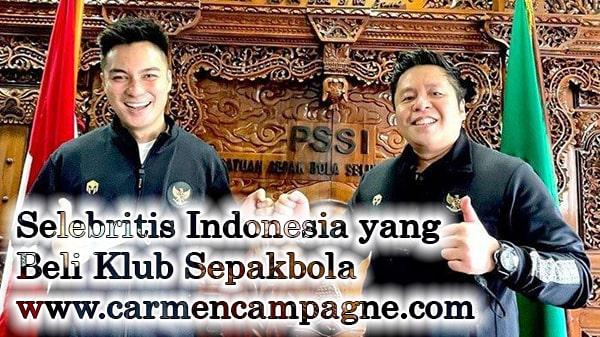 Selebritis Indonesia yang Beli Klub Sepakbola